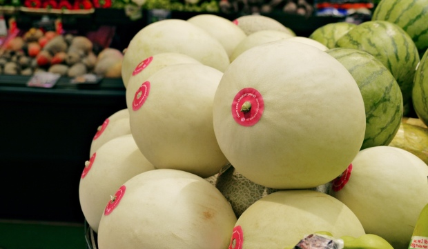 Image from Rethink Canada - http://rethinkcanada.com/blog/2015/11/melons-get-makeovers-for-breast-cancer-awareness/